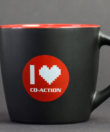 "Kubek ceramiczny premium ""I love CD-Action"", czarny"