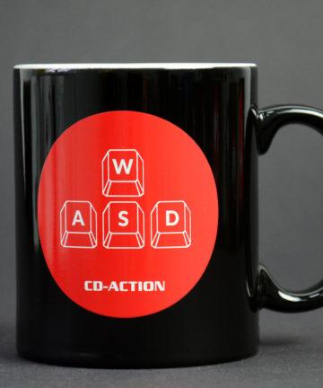 Kubek ceramiczny WSAD, czarny