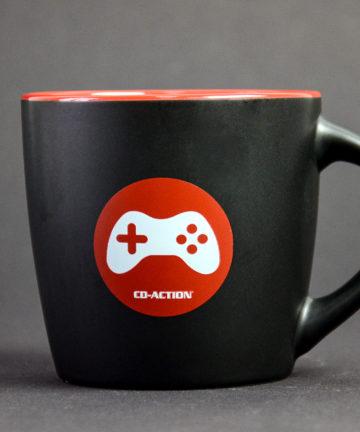 Kubek ceramiczny premium z padem konsolowym, czarny