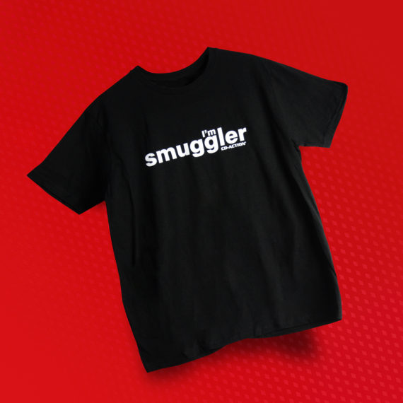 "Koszulka z napisem ""I'm Smuggler"", czarna, rozmiar M"