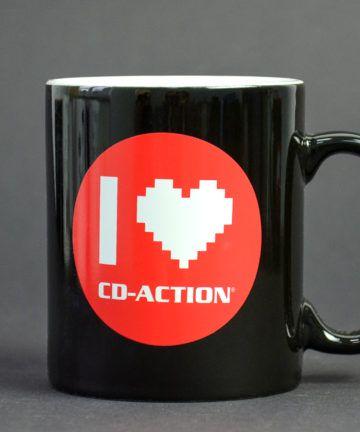 """Kubek ceramiczny """"I love CD-Action"""", czarny"""