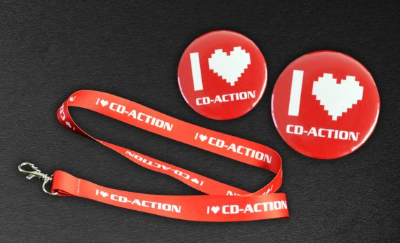Zestaw gadżetów CD-Action wzór I Love CD-Action