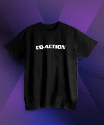 Koszulka z białym logo CD-Action, czarna, rozmiar M