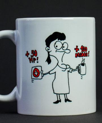 """Kubek ceramiczny z Klarą """"HP i Mana"""""""