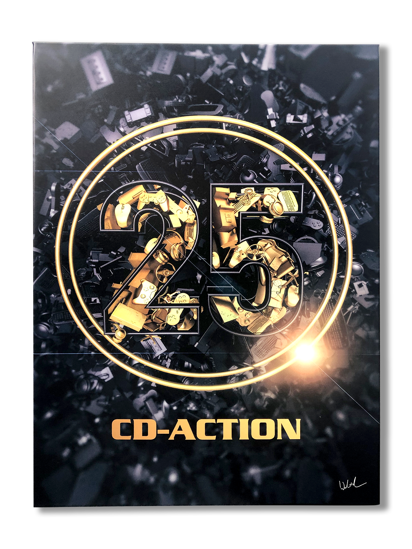 Metalowy plakat 25 lat CD-Action, edycja limitowana,blacha