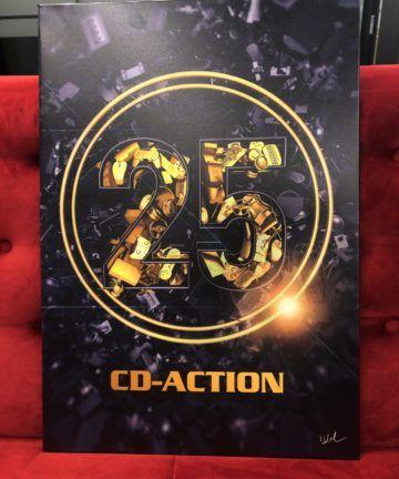 Metalowy plakat 25 lat CD-Action, edycja limitowana, mały, blacha