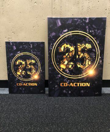 Metalowy plakat 25 lat CD-Action, edycja limitowana, blacha