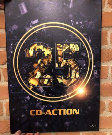 Metalowy plakat 25 lat CD-Action, mały, edycja limitowana, blacha