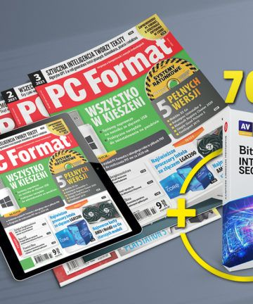 Prenumerata premium PC Format z programem Bitdefender Internet Security