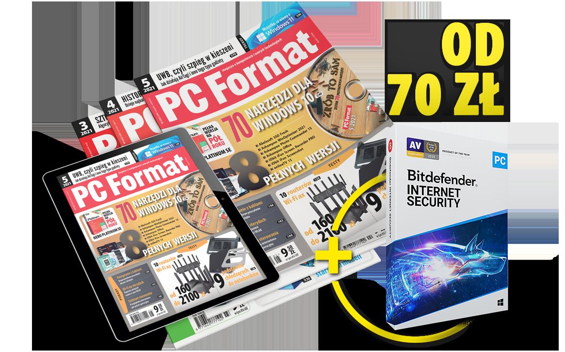 Prenumerata PC Format z Bitdefenderem